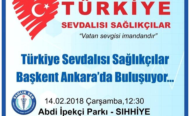 Sağlıkçılar Ankara'da Buluşacak