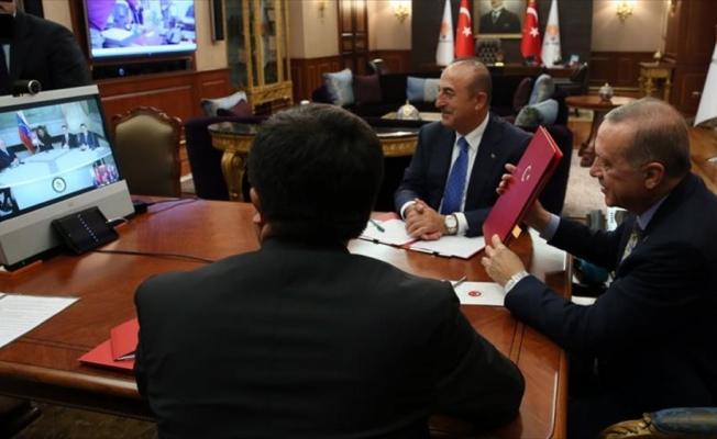 Cumhurbaşkanı Erdoğan ve Maduro telekonferansla anlaşma imzaladı