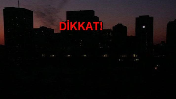 Dikkat! Ankara'nın bütün ilçelerinde elektrikler kesilecek!