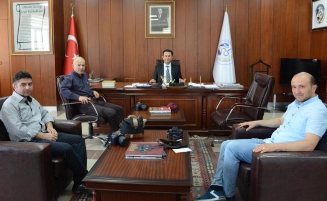 Gazetecilerden Belediye Başkanı Gürbüz'e ziyaret