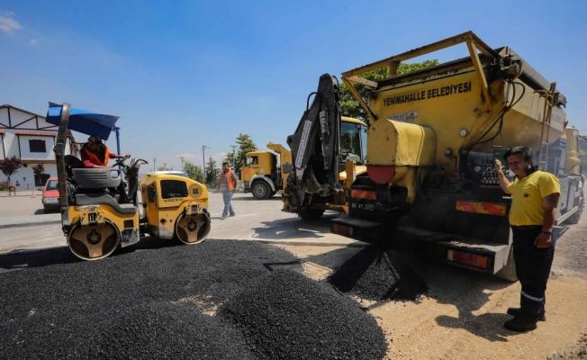 Yenimahalle'de yol yapım ve asfaltlama çalışmaları