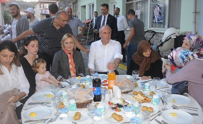 CHP'nin cumhurbaşkanı adayı İnce: Türkiye'nin dört bir yanında değişim rüzgarı esiyor