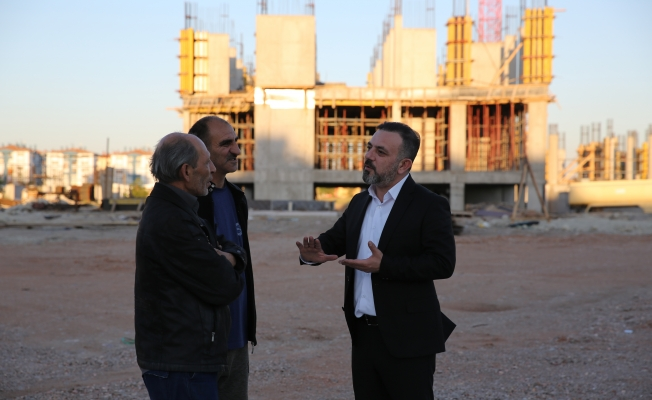 Ercan İlçede devam eden projeleri yerinde inceledi