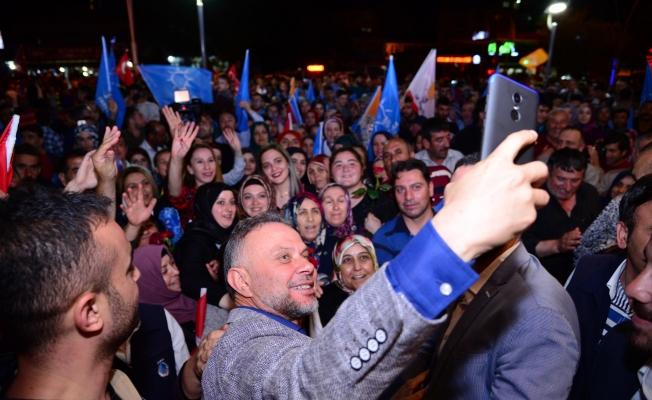 """Kahramankazan'da """"Erdoğan"""" coşkusu"""
