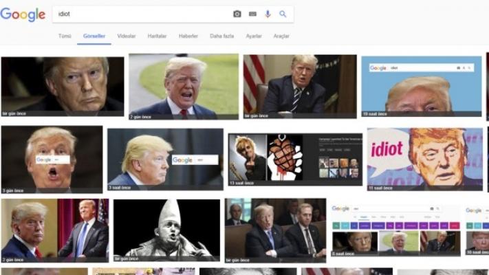 Google'da Idiot yazınca Trump çıkıyor