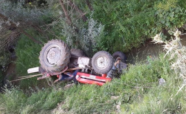 Yozgat'ta devrilen traktörün sürücüsü öldü