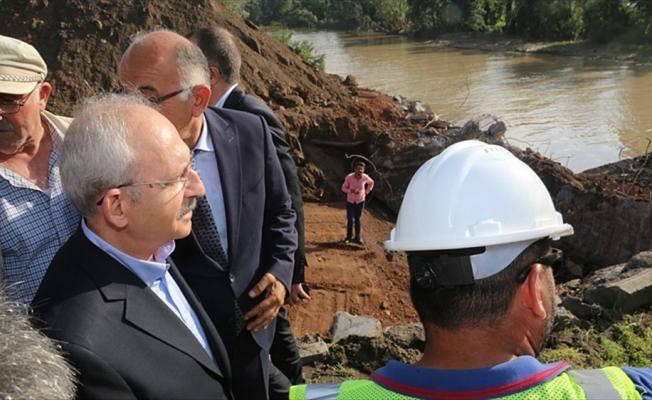 CHP Genel Başkanı Kılıçdaroğlu Ordu'da sel bölgesini inceledi