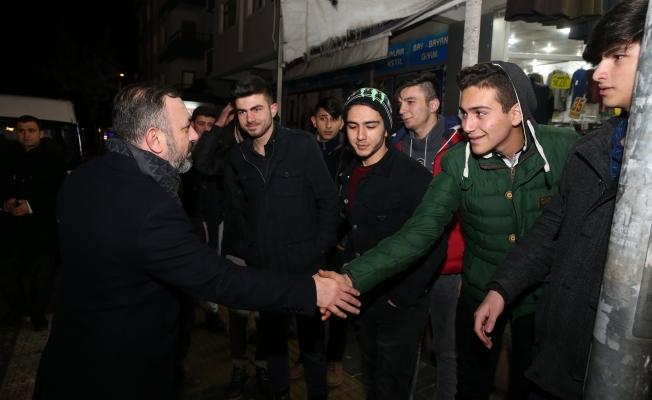 Başkan Ercan, Esnafla Kucaklaştı!