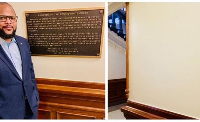 Teksas Konfederasyon levhasını meclis duvarından kaldırdı