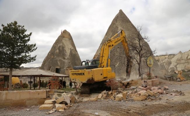GÜNCELLEME - Kapadokya'daki yapıların yıkılması
