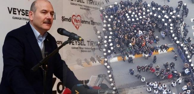 Soylu dediğini yaptı HDP'lileri yürütmedi!