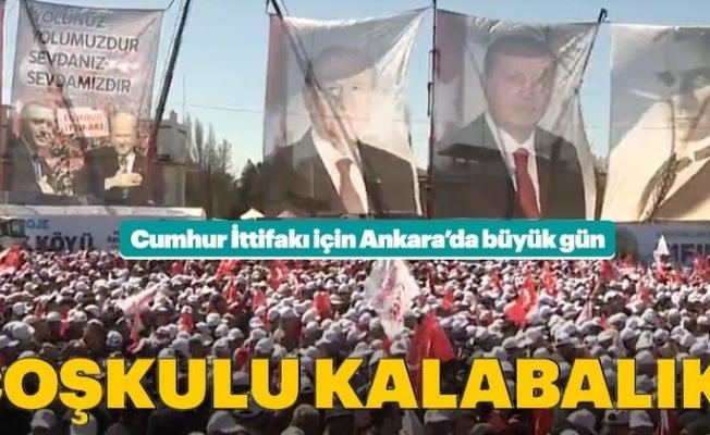 Ankara'da Büyük Ankara Mitingi 500 Binden Fazla Kişiyle Başladı.