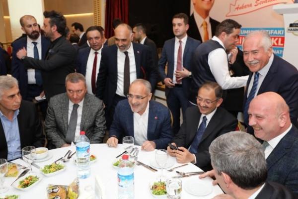 Ülkücülerden Mehmet Özhaseki'ye destek