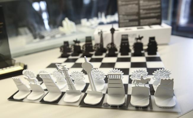 Ankara'nın silüeti satranç tahtasına yansıdı