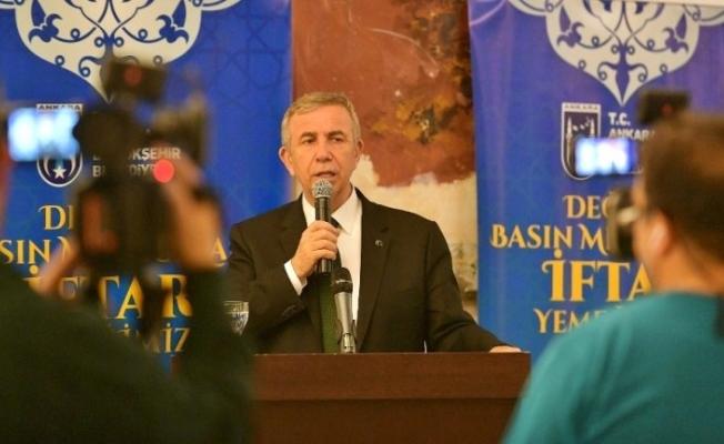 Ankara Büyükşehir Belediye Başkanı Mansur Yavaş Açıklaması
