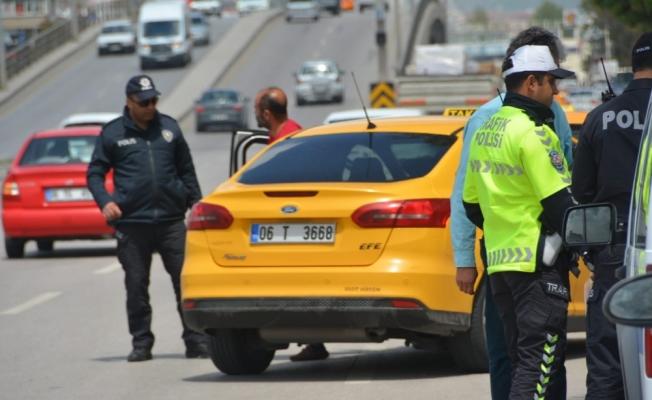 Başkentte taksilere yönelik asayiş uygulaması