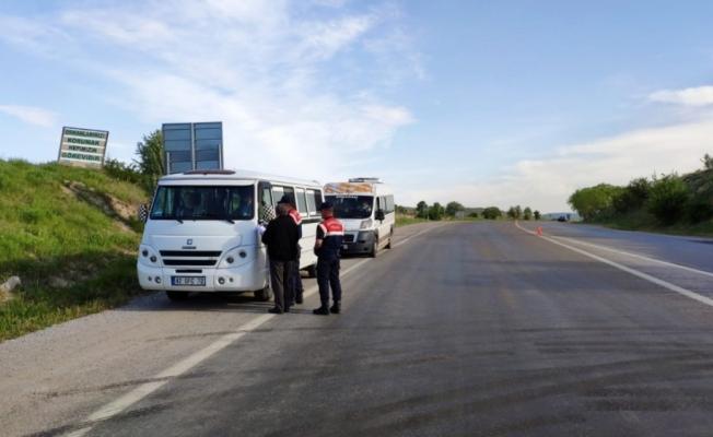 Bozkır'da okul taşıtları denetlendi