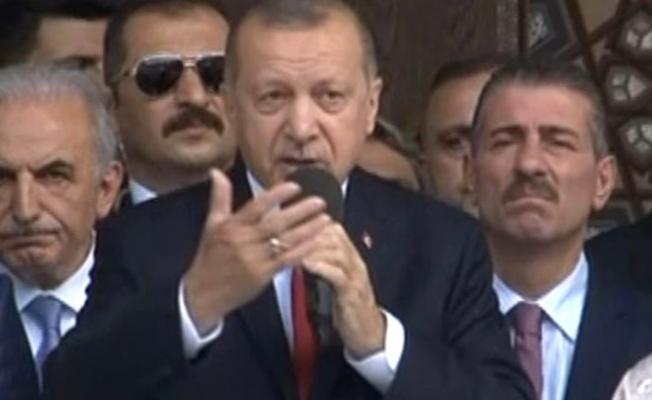 Cumhurbaşkanı Erdoğan, Cami Açılışında Konuştu: Hırsızlara Bu İşi Bırakmayacağız