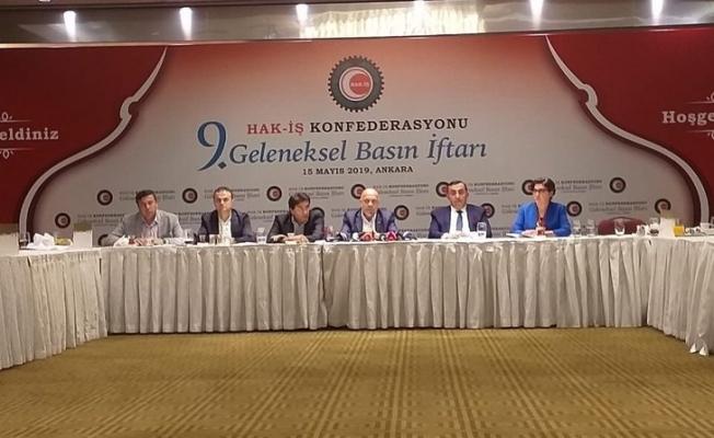 Hak-İş Genel Başkanı Mahmut Arslan Basın Mensuplarıyla İftar'da Buluştu.