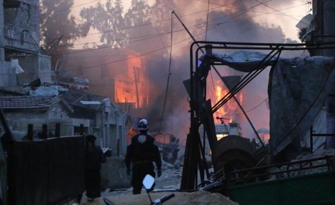 İdlib'de iftar vaktinde hava saldırısı: 3 ölü, 8 yaralı