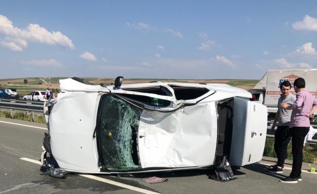 Kırıkkale'de otomobil ile traktör çarpıştı: 7 yaralı