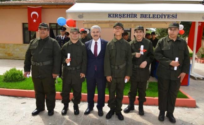 Kırşehir'de engellilerin askerlik heyecanı