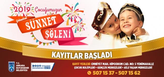 Ankara'da Sünnet Şöleni Kayıtları Başlıyor!