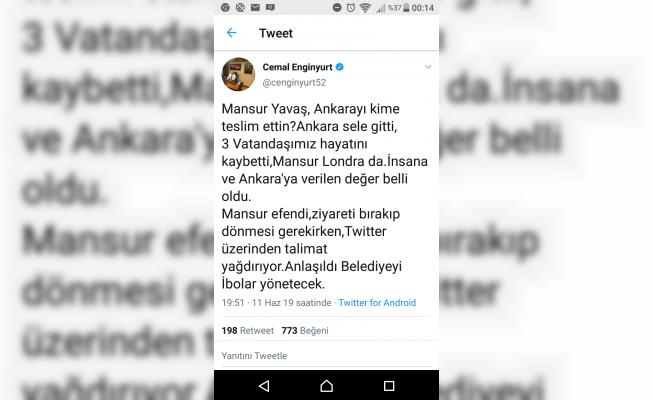 Ankara sele teslim, 3 vatandaş öldü, Mansur Yavaş Londra'da