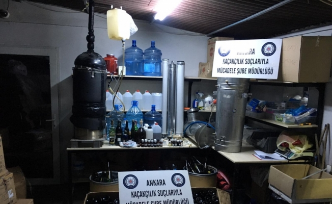 Başkentte sahte alkol operasyonu