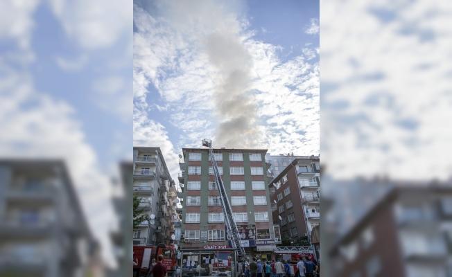 Başkentte yangın