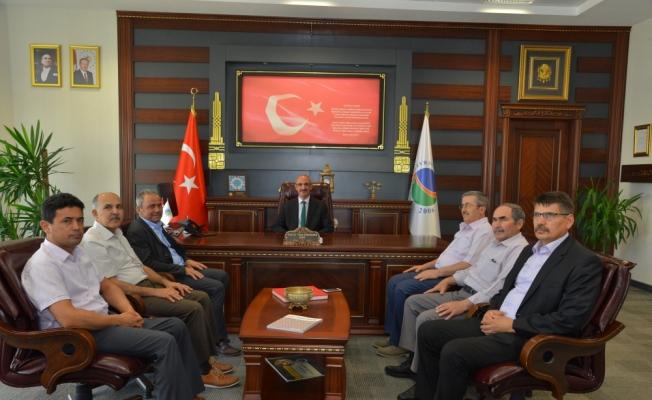 Görevine yeniden atanan Rektör Karakaya'ya ziyaretler