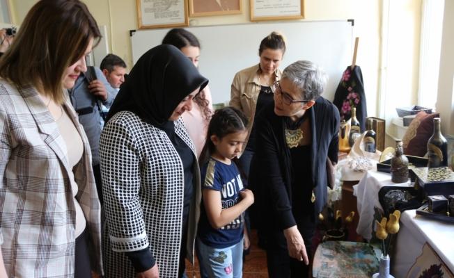 Kaman Halk Eğitim Merkezi yıl sonu sergisi açıldı