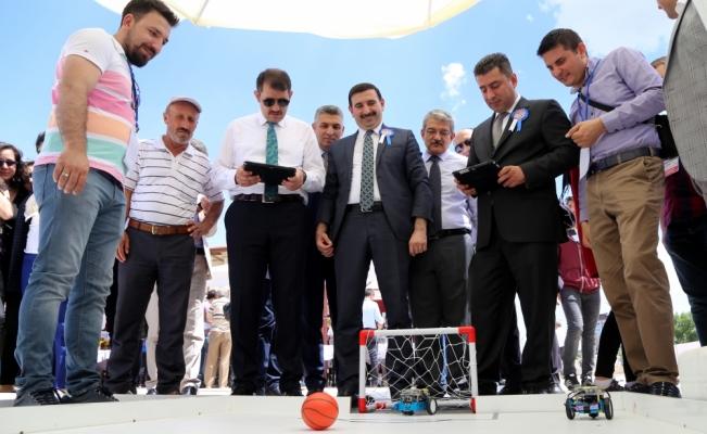 Sivas'ta robotlar yarıştı