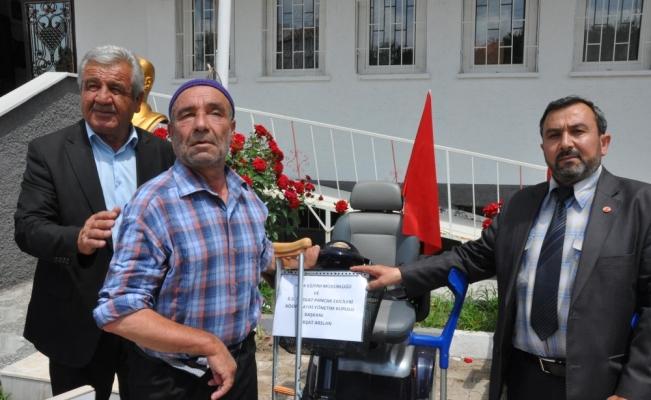 Sorgun'da engellilere, akülü araç ve tekerlekli sandalye dağıtıldı