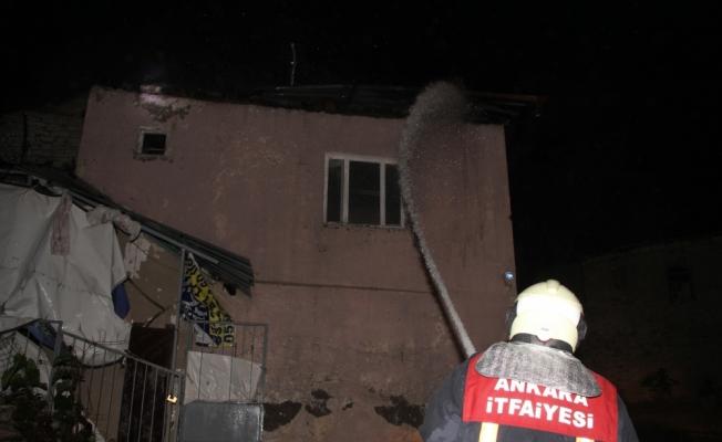 Beypazarı'nda ev yangını