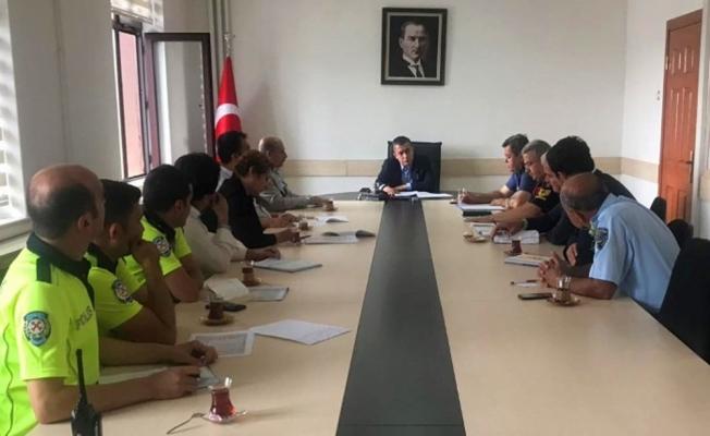 Beypazarı'nda trafik güvenliği toplantısı yapıldı