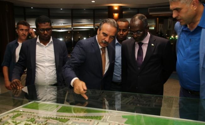 Cibuti Ulusal Meclis Başkanı Hamed Nevşehir'i ziyaret etti