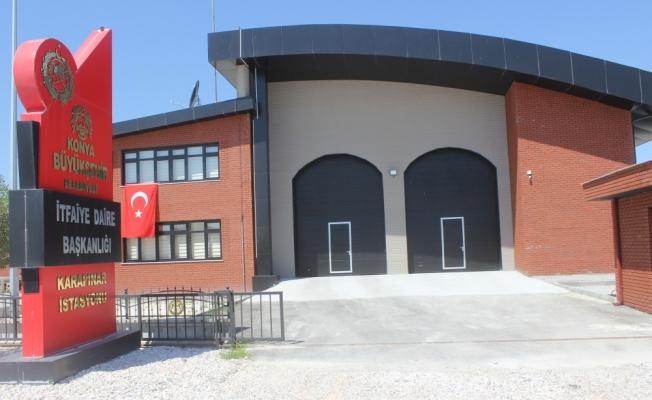 Karapınar'da yeni itfaiye binası hizmete girdi