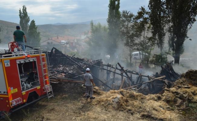 Şabanözü'nde yangın