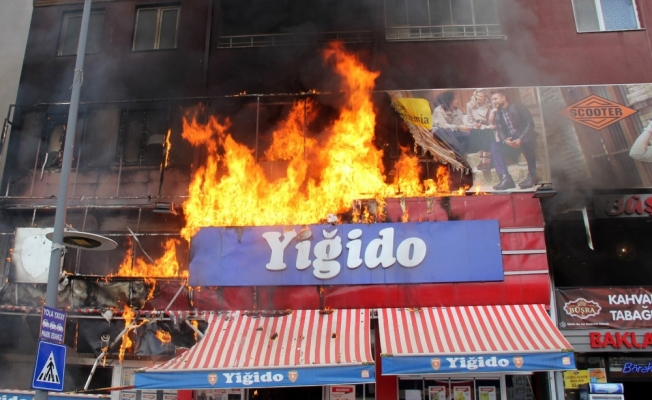 Sivas'ta yangın