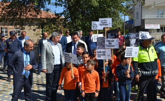 Kayseri'de yaya önceliği uygulaması yapıldı