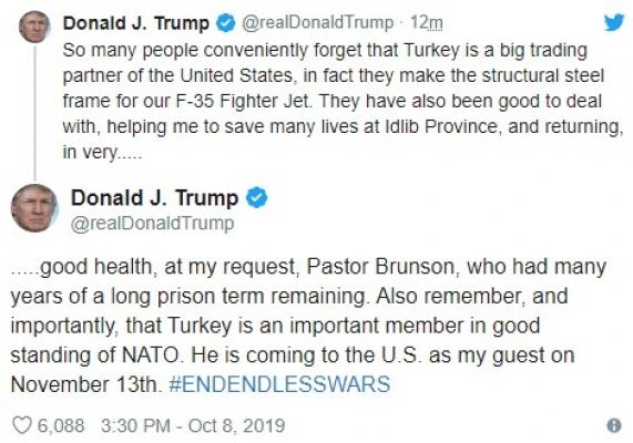 Trump'tan Türkiye ile ilgili şaşırtan yeni açıklama!