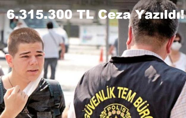 Maske Takmayanlara 6.315.300 TL Ceza yazıldı!