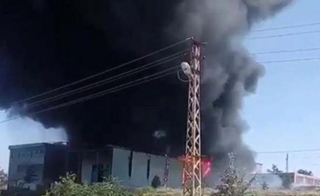 Ankara'da boya deposunda yangın! 3 saatte söndürüldü