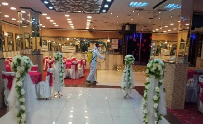 Mamak'ta düğün salonları yeni normale uyumlu hale getirildi