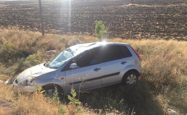 Konya'da otomobil takla attı: 2 yaralı