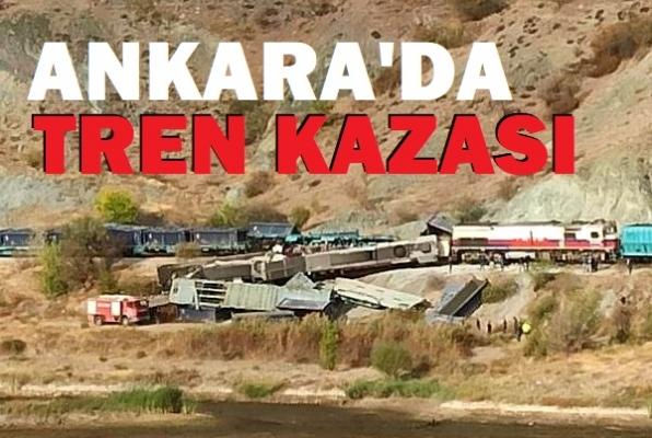 Ankara'da iki tren çarpıştı: 2 ölü