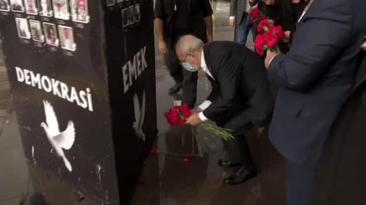 Kılıçdaroğlu, Ankara Garı'nda hayatını kaybeden vatandaşları andı