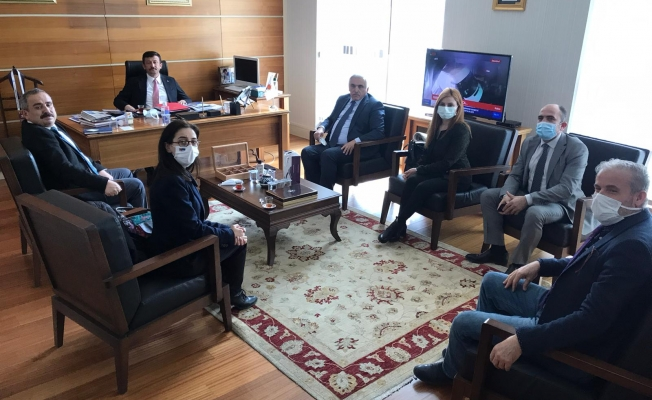 Anadolu Yayıncılar Derneği Hamza Dağ'ı ziyaret etti