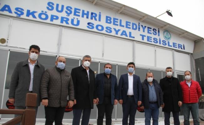 Suşehri Kültür ve Dayanışma Dernek Yönetimi'nden Başkan Yüksel'e ziyaret